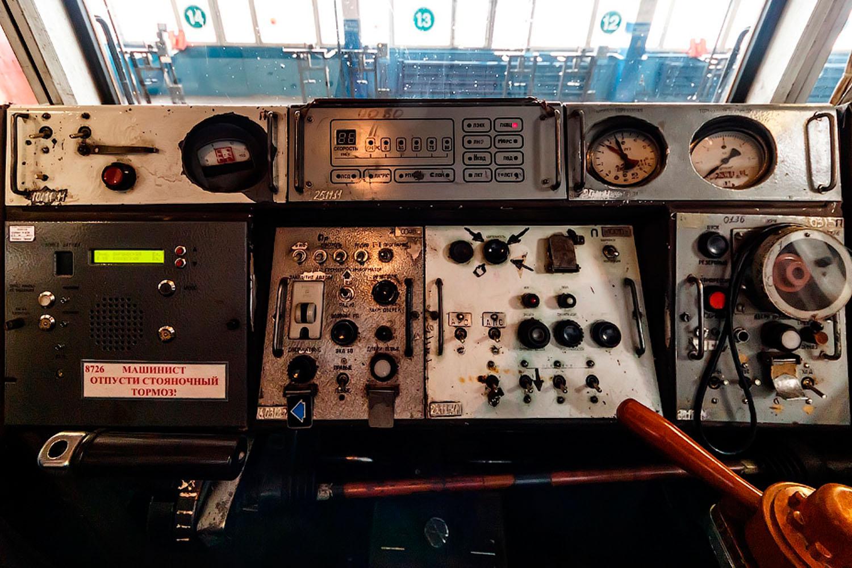 Старый пульт кабины машиниста